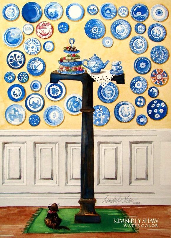 Kimberly Shaw.........High Tea....Mostly blue with a touch