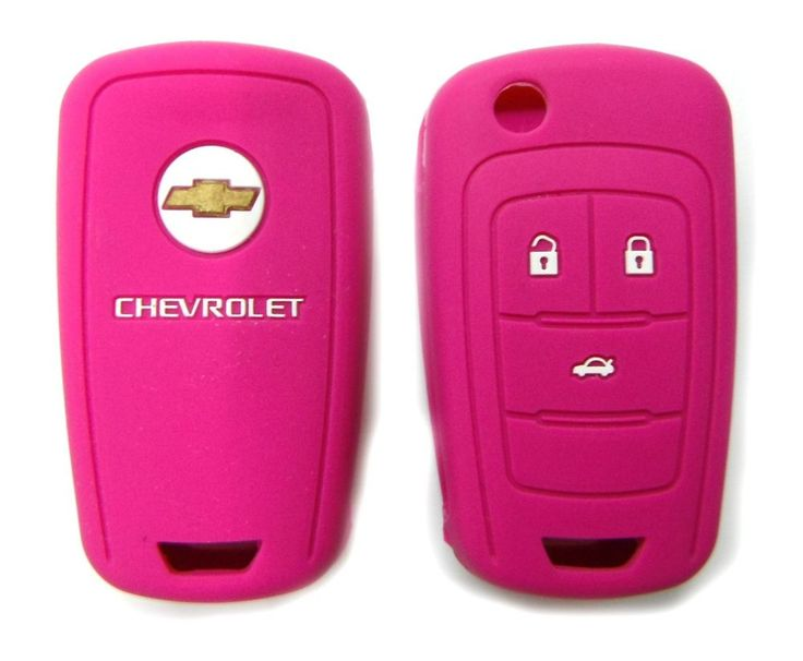$5.99 Key Fob Silicone Case Cover Holder For Chevrolet Cruze Camaro 4 Buttons Pink