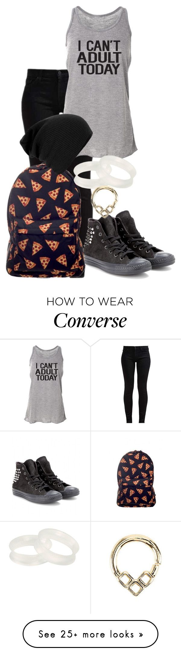 """I see that ring, Renee "" by digital-minerva on Polyvore featuring 7 For All Mankind, Converse and CO"