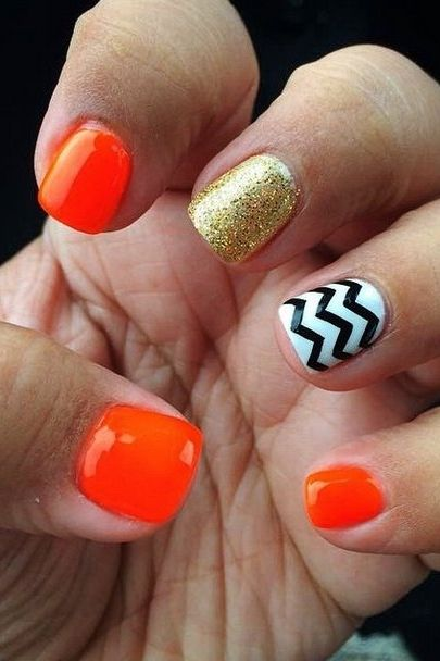 DIY Halloween nail art so good you may forgoe the costume all together. Pictured: Preppy Halloween