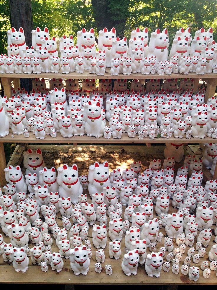 Gotokuji Shrine - The Birthplace of Maneki Neko (Lucky Cat). Must visit someday.