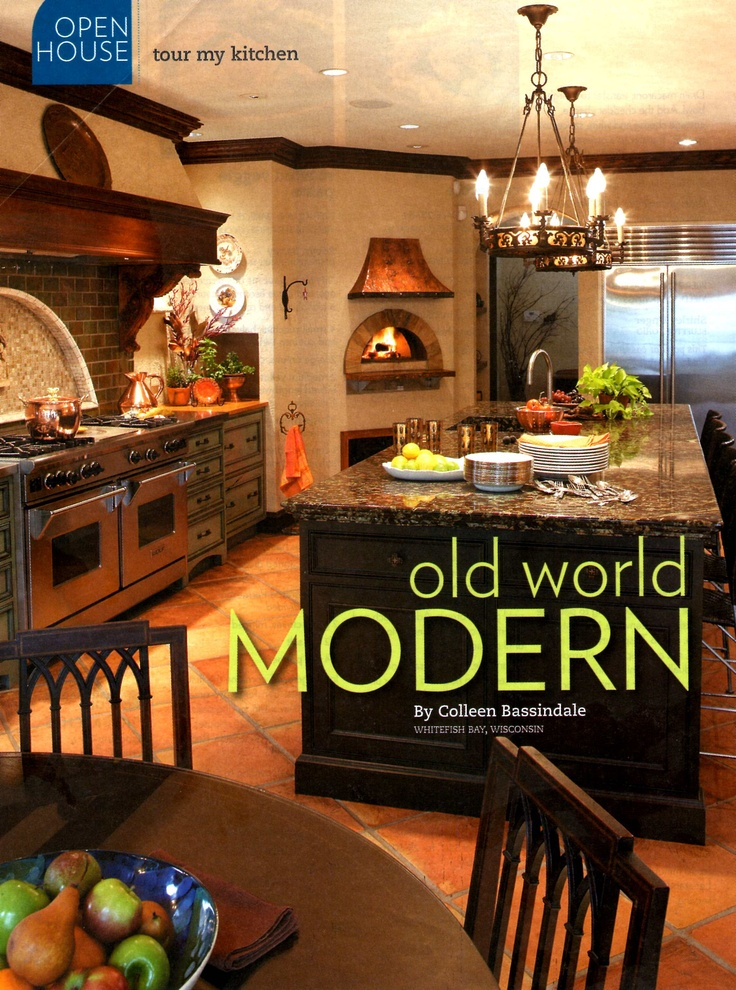 Kitchen with brick oven ....have always wanted this