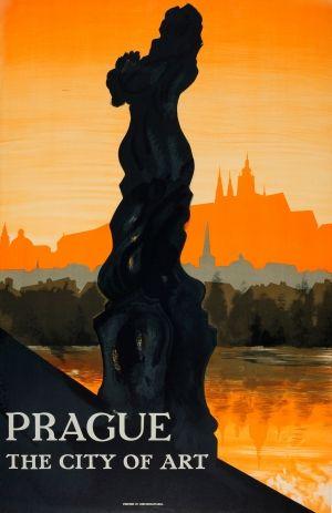 Prague The City of Art, 1930s - original vintage poster listed on AntikBar.co.uk