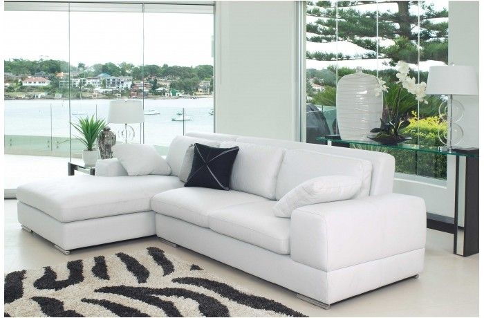 Amore 2 5 seater leather lounge with chaise harvey norman for 2 5 seater chaise lounge