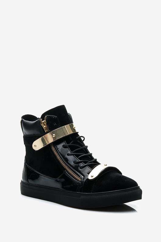 Trampki Sneakersy Joane czarne