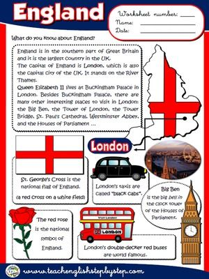 England - Worksheet