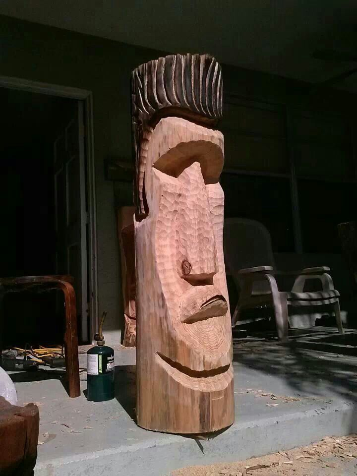 Best tiki images on pinterest carving sculptures