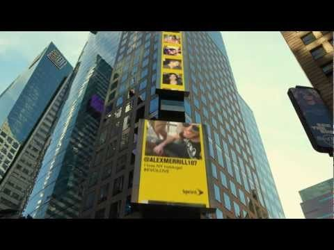 """""""Unlimited Love Billboard"""" utilizing a Time Square billboard, twitter and info on the best things in NYC"""