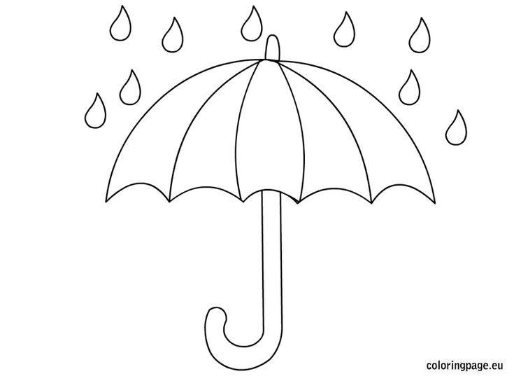 Related coloring pagesopen umbrellaumbrella coloring pages for Printable umbrella template for preschool