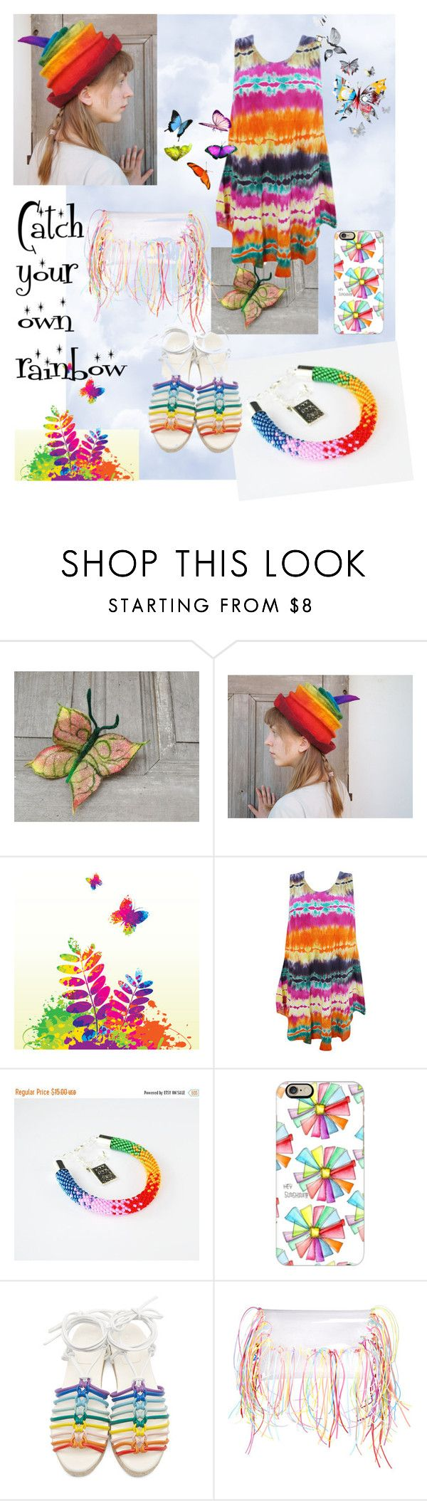 """""""Rainbow"""" by filcalki ❤ liked on Polyvore featuring Casetify, Chloé, boho, rainbow, hippie, summer2016 and filcalki"""