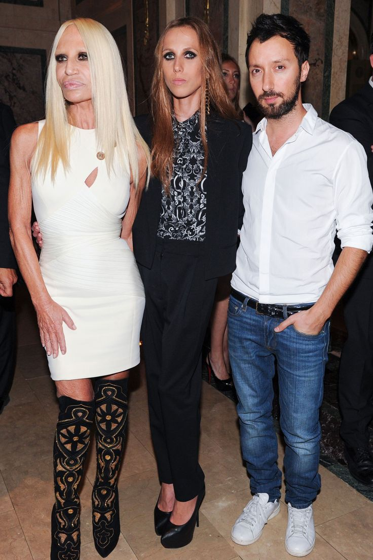 Donatella Versace, Allegra Versace and Anthony Vaccarello at Global Style: Harper's BAZAAR Celebrates Icons by Carine Roitfeld