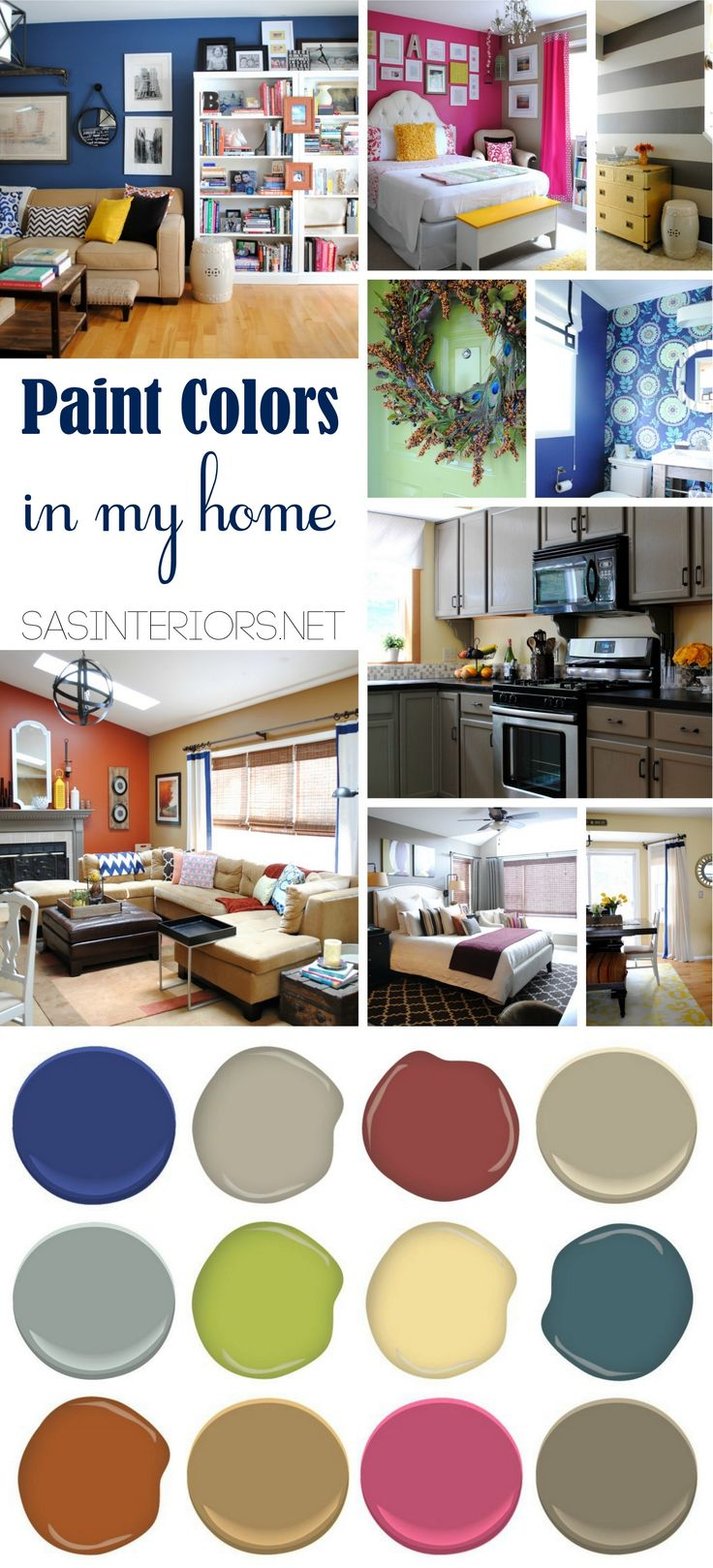 Paint Color Palette for the Whole House by @Jenna_Burger of www.sasinteriors.net