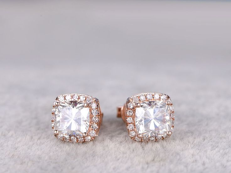 moissanite earrings,see our earrings in 14k/18k with round,oval,cushion,princess,emerald cut,pear shapes.
