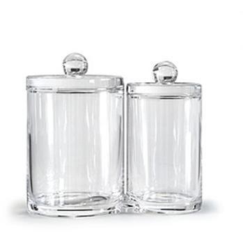 "Harman Elements Bath Acrylic Cotton/Swab Duo 6"" X 3.5"" X 5"" Clear | Kitchen Stuff Plus  #KSPPin2Win"