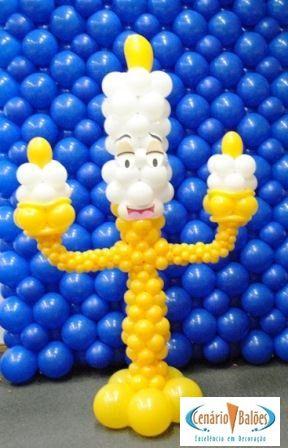 Fotos - A Bela e a Fera- Cenário Balões - Excelência em Decoração
