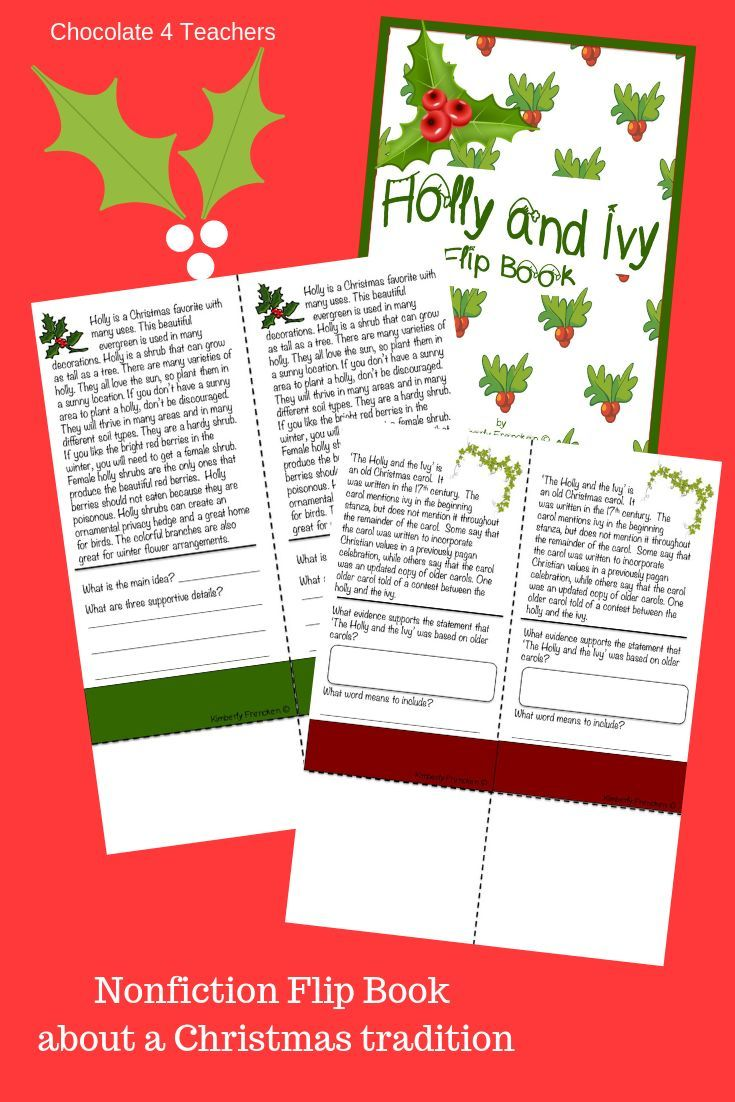 Holly and Ivy Non-Fiction Flip Book for Reading Practice | It\'s ...
