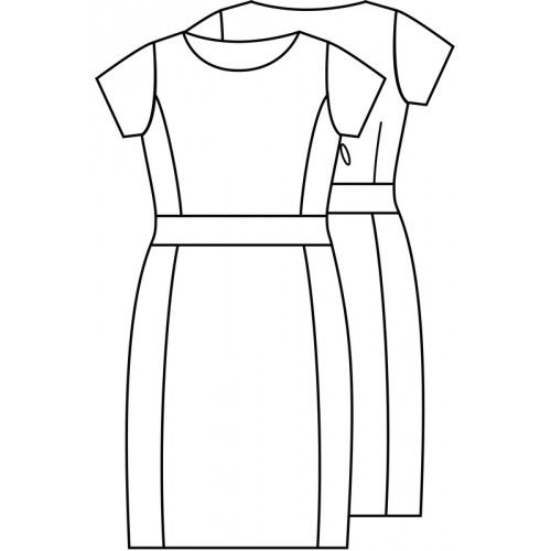 Patroon jurk (pdf patroon)   Dames   Knipmode   Knipmode ...