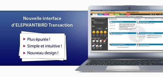 Nouvelle interface pour ELEPHANTBIRD Transaction