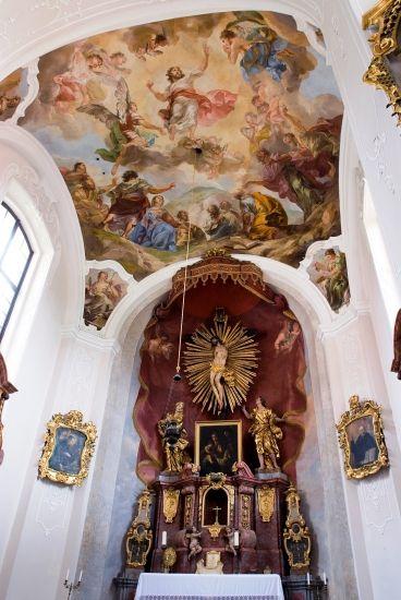 Václav Vavřinec Reiner - Nanebevstoupení Krista (1725) Kaple zámku v Jemništi