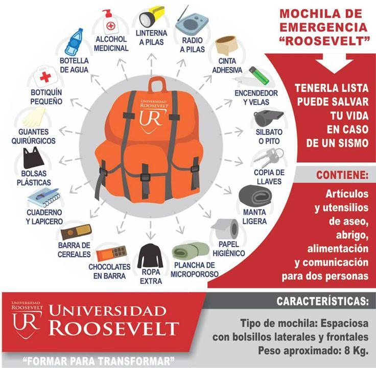 "Universidad Roosevelt   MOCHILA DE EMERGENCIA ""ROOSEVELT"""