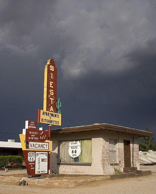 Siesta Motel on U.S. Rout 66 in Kingman, Arizona.