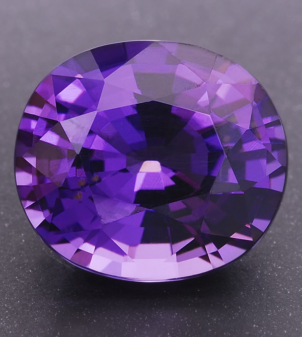 Violet eye clean Spinel oval weighing 2.82cts, from Tanzania