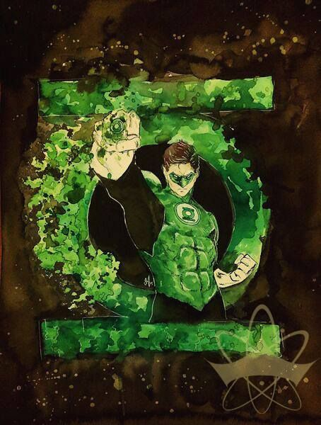 """Green Lantern. By Galaxara - Inspired by """"joeprado2010"""" 's work from Deviant art. Please respect credits and copyright."""