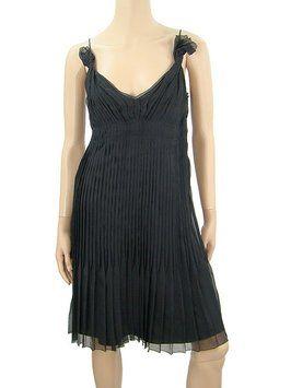 Prada Black - Silk Pleat Cocktail Dress $593