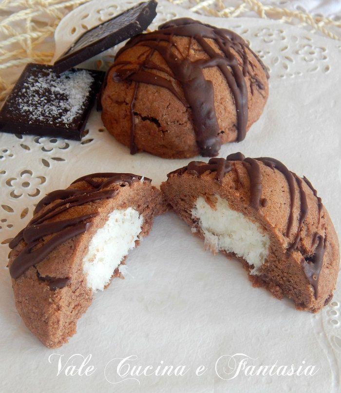 Merendine al cacao con cuore di cocco