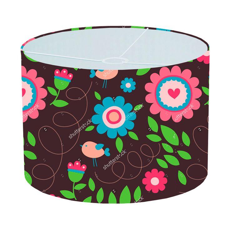 Lampenkap Floral pattern | Bestel lampenkappen voorzien van digitale print op hoogwaardige kunststof vandaag nog bij YouPri. Verkrijgbaar in verschillende maten en geschikt voor diverse ruimtes. Te bestellen met een eigen afbeelding of een print uit onze collectie.    #lampenkap #lampenkappen #lamp #interieur #interieurdesign #woonruimte #slaapkamer #maken #pimpen #diy #modern #bekleden #design #foto #bloemen #bloem #retro #vogel #bruin