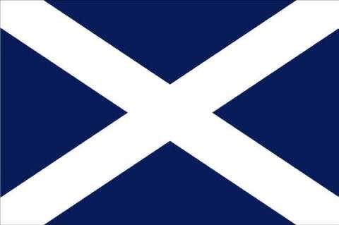 The Saltire or St Andrew's Cross, is a blue field with a white saltire. According to tradition, it represents Saint Andrew,   who is supposed to have been crucified on a cross of that form.  #scotland #saltire #flag