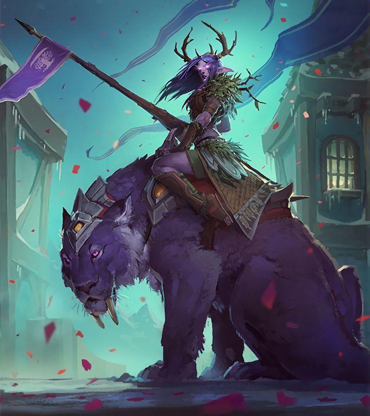 World of Warcraft - alianza - Elfa de la noche Druida - Darnassus
