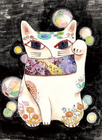 招き猫-紙風船-