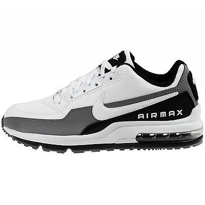 purchase cheap 317a0 552fd ... Nike Air Max Ltd 3 Mens 687977-119 White Black Grey Leather Running  Shoes Sz ...