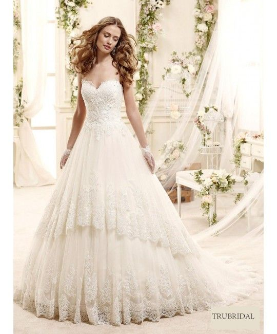 2015 Ball Gown Sweetheart Beading Embroidery Sweep Train Lace Wedding Dresses