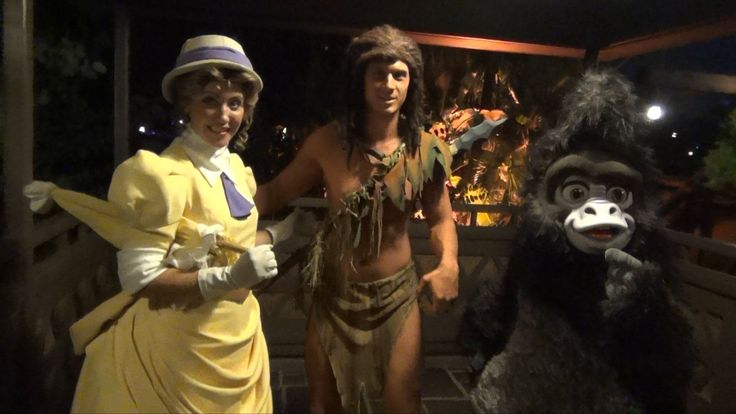 Video: Tarzan, Jane and Terk greet us at Mickey's Not-So-Scary Halloween Party!