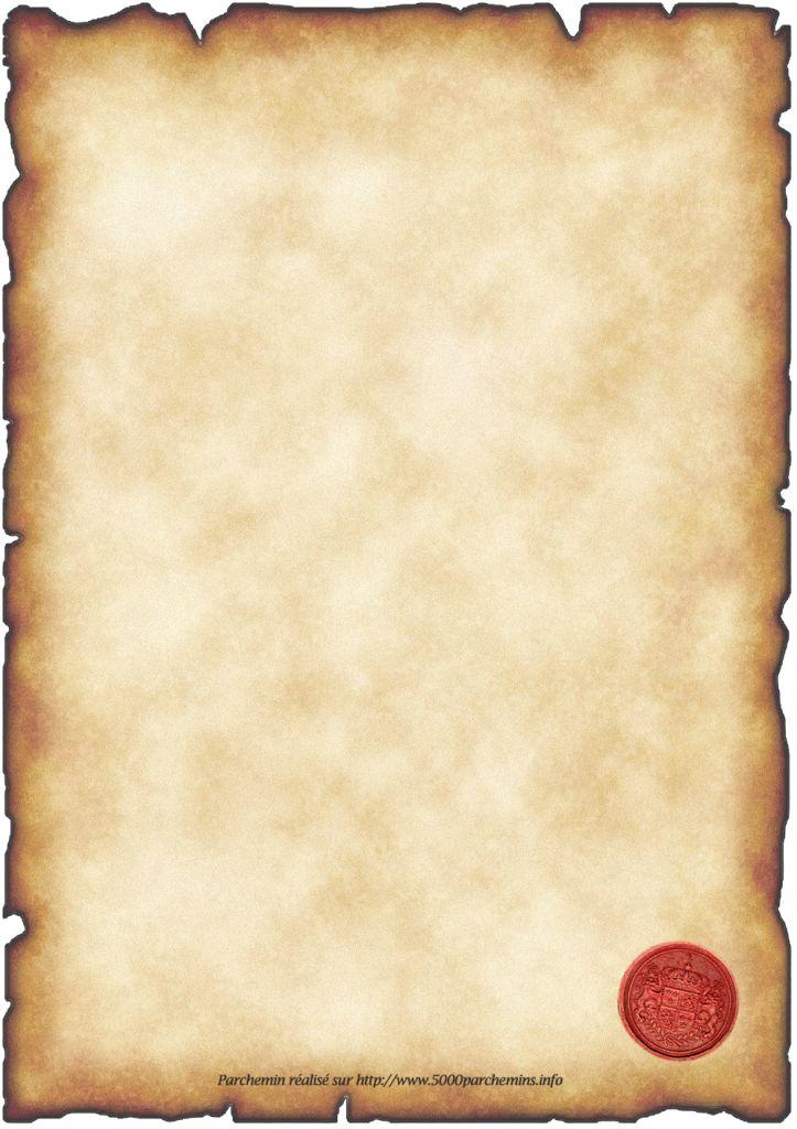 gabarit papier à lettre parchemin