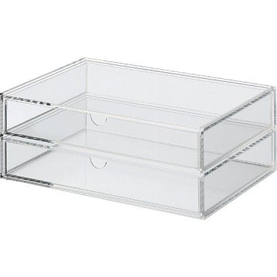 Great place to store makeup that you use everyday!  The Muji 2-drawers - large size