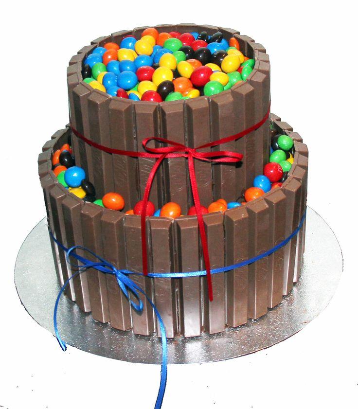 Kit Kat & M&M Cake Like us on  www.facebook.com/melianndesigns