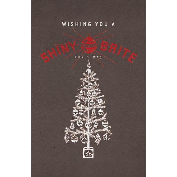 Wishing You a Shiny Brite Christmas - Poster 11 x 17 via Light Hand on Etsy