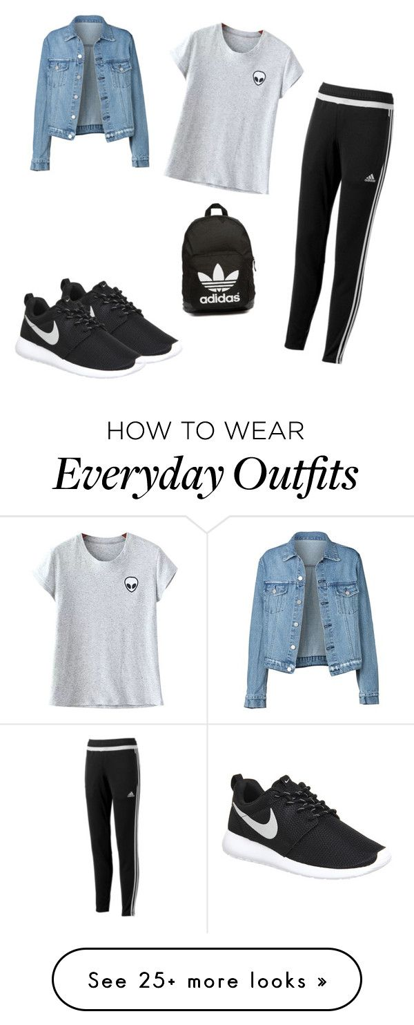 """""""My Everyday Outfit"""" by briannapeters on Polyvore featuring NIKE, adidas, Chicnova Fashion and adidas Originals"""