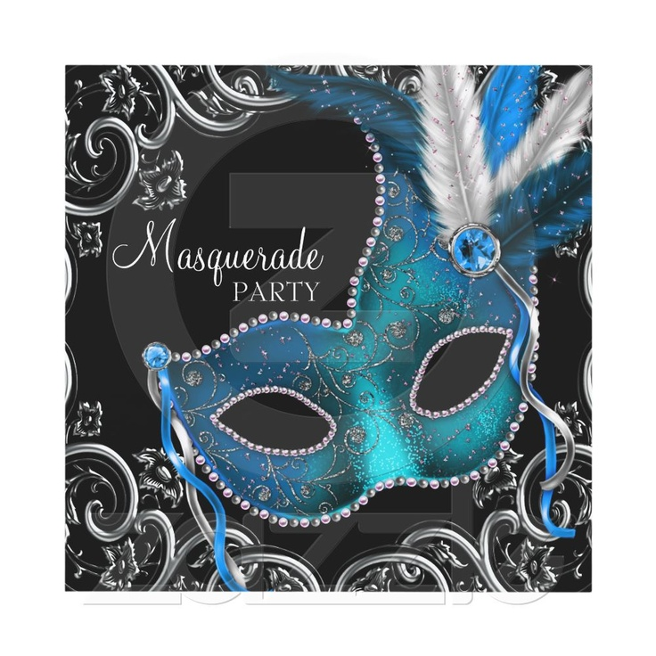 10 best party invites images on Pinterest | Invites, Mask party and ...