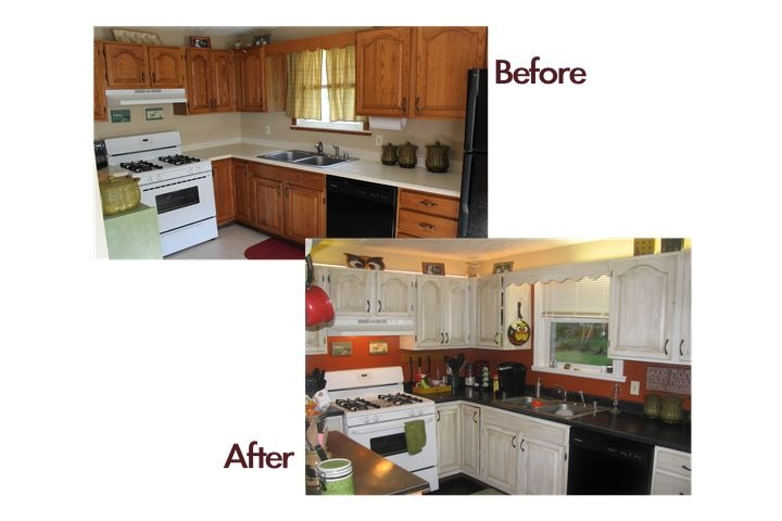 Countertop Paint Kit Home Depot : Cabinet and countertop kit and new flooring thanks to Home Depot ...