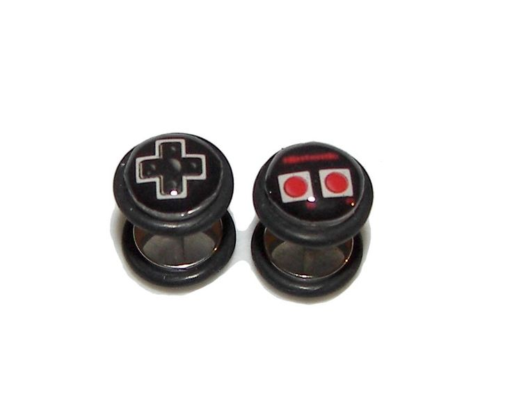 Nintendo Controller FAKE Plugs Post Earrings - 1 Pair - Made to Order. $19.95, via Etsy.