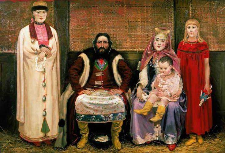 А. П. РЯБУШКИН, Семья купца в XVII в. 1896 г.: