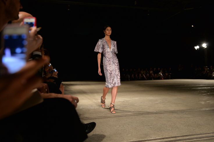 Illusion prints on the Bianca Spender MBFWA 2014 runway