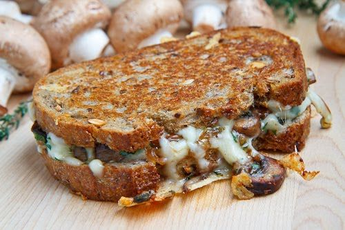 Mushroom Grilled Cheese...it's amazing how mushrooms make this sandwich so good!