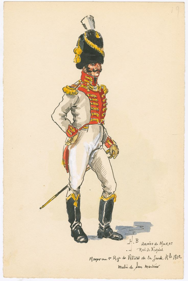 Naples; 1st Velites Regt of the Royal Guard, Major, 1812 by H.Boisselier