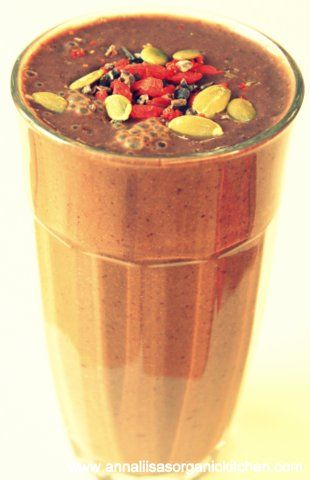 combating the blues, anti depression smoothie with raw cacao