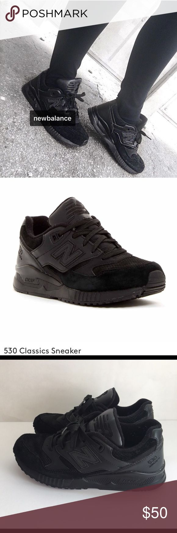 *New Balance* Suede Black Classic Sneaker 7 530 Classic Black Sneaker with Suede in US 7. Bought in September 2016 ( 6 months old) in Great Condition. New Balance Shoes Sneakers